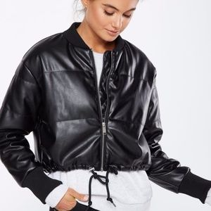 Cotton On Women Chopped Puffer Bomber Jacket